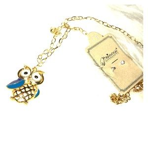New owl and enameled necklace size 17